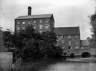 Photographic Glass Negative The Old Bobbers Mill Nottingham History 1911 Superb!
