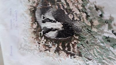 New Completed Cross Stitch - Badger
