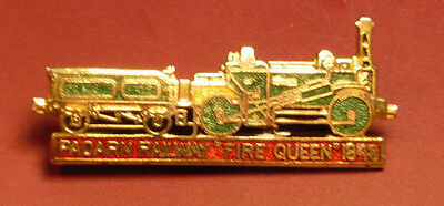 "Enamel steam train badge; Padarn Railway ""Fire Queen"""