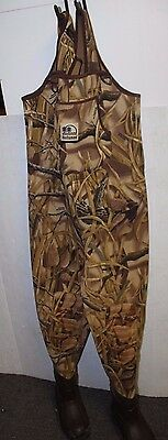 HODGEMANS 1200 THINSULATE BOOTS INSULATION HUNTING FISHING CHEST WADERS size 9