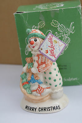 "BESWICK FIGURINE ""MERRY CHRISTMAS""  LITTLE LOVABLE 1993 mib"
