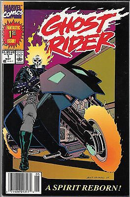 Ghost Rider #1 (Vf/nm) 1990's Series, 1St Appearance Danny Ketch