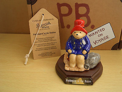 Limited Edition Gold Edition Paddington At The Station  Beswick Ware Mib