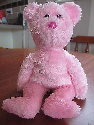 Pink Ty dazzler beanie bear - in excellent condition