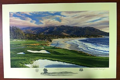 Signed Limited Edition Print - 2010 US Open - Pebble Beach - by Linda Hartough