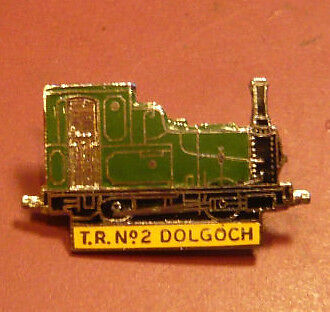 "Enamel Train badge Talyllyn Railway ""Dolgoch"""