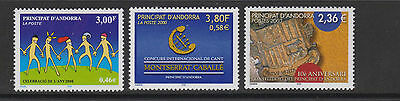 French Andorra - SG F563, 566, 626 - u/m - 2000/03 - 3 stamps