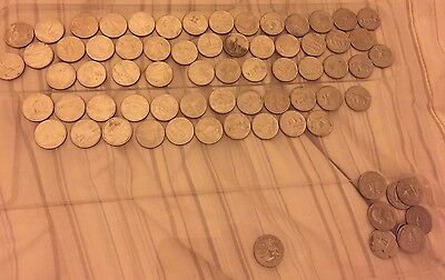 71 US Quarters And A Single $1 Coin - $18.75 TotaI- Itemised In Listing