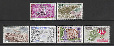 French Andorra - 6 issues - u/m - 1971/83