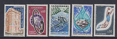 French Andorra - SG F194, 202, 216/17, 221 - u/m - 1965/70 - 5 stamps
