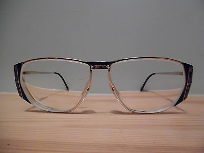 Vintage Zeiss Germany Unique Gold & Multicoloured Oval Eye Glasses 6880 4100 135