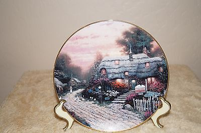 OLDE PORTERFIELD TEA ROOM collectable porcelain plate by Thomas Kinkade #19A