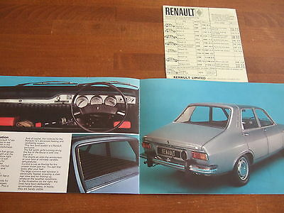 RENAULT 12, 1970 UK Mkt Sales Brochure