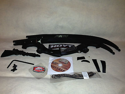 """Hoyt Fred Eichler Buffalo Recurve Bow  Right Hand 60"""" 45lbs Black Out& Case"""