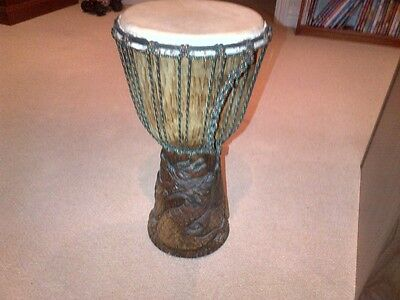 Djembe drum (hand carved)