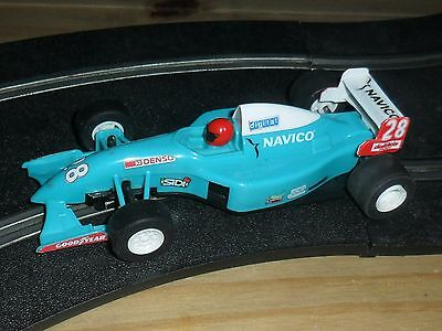 Scalextric vintage Navico Indy /  F1 / F3 car # 28 SUPERB, complete & fast