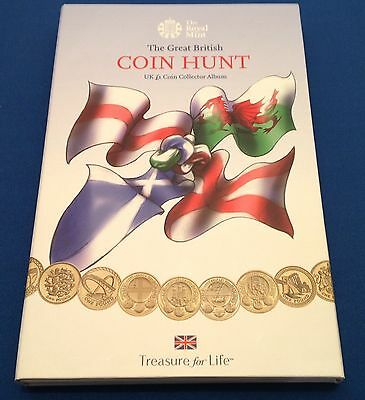 Sold Out Brand New 2015 Royal Mint UK £1 Coin Hunt Album One Pound