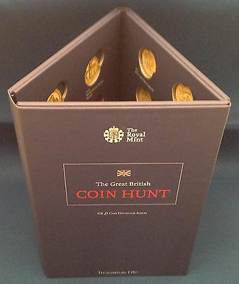 2015 Brand New Royal Mint UK £1 Coin Collection Album One Pound Coin Hunt