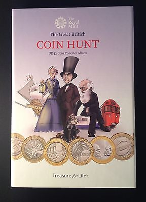 Brand New 2015 Royal Mint UK £2 Two Pound Collection Folder Coin Hunt Album