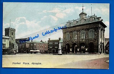 Old Postcard Market Place Abingdon Oxfordshire Oxon Nr Oxford Didcot Wantage Vgc