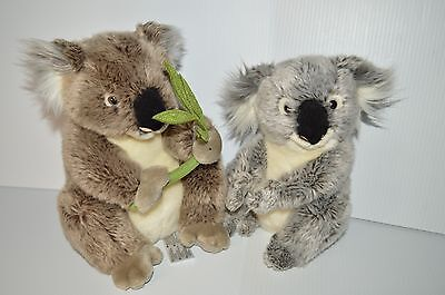 FAO Schwarz 13 inch Plush Koala Bear Gray And Webkinz Koala plush (No Code) Used