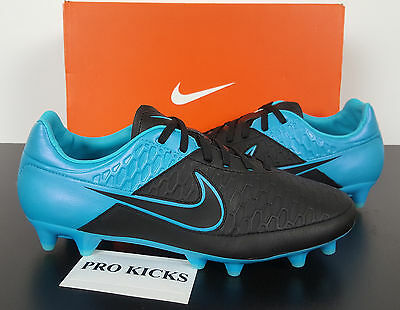 Nike Magista Orden Leather Fg Soccer Cleats Black Blue New 759989-004 (Size 7.5)