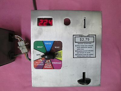 Car Wash Digital Count down Coin Meter assembly Used.
