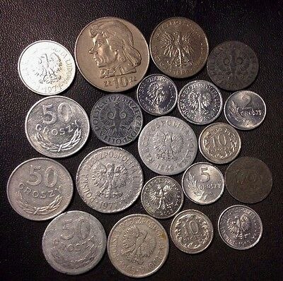 Old Poland Coin Lot - 1923-PRESENT - 20 Excellent Coins - Lot #215