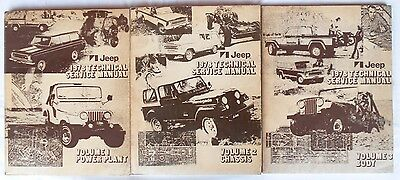 Original Jeep Shop Manual Repair Service Book CJ5 CJ7 Cherokee Wagoneer Truck