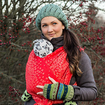 Natibaby `LEOPARD CORAL´ Tragetuch Baby Woven Wrap