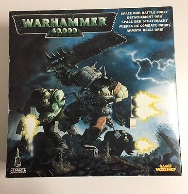 Vintage Games Workshop GW Warhammer 40,000 Space Ork Battle Force