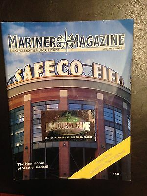 2001 Seattle Mariners Magazine w/ Inaugural Game Safeco Field Hologram