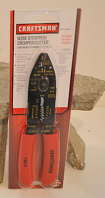 Craftsman 73575 Wire Stripper / Crimper / Cutter 10-22 Awg Up Front Crimper Nip