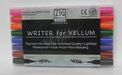 Zig Memory System - Writer for Vellum - Set 8 Colours