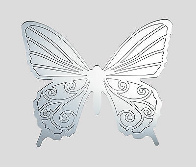 Butterfly acrylic mirror with engraved pattern, home childrens wall shatterproof