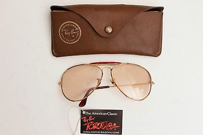 FOR PARTS Rayban Outdoorsman Aviator 62-14 Tortuga, with tag & leather case, B&L