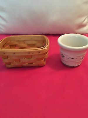 Longaberger Business Card Basket and Heritage Green Votive Cup
