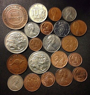 Old Australia/New Zealand Coin Lot - 1922-PRESENT - 21 Great Coins - Lot #215