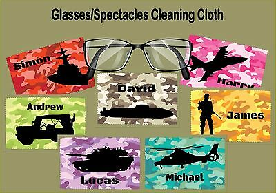 Camouflage Military Design Glass/Spectacles Cleaning Cloth Tank Soldier Jeep Sub