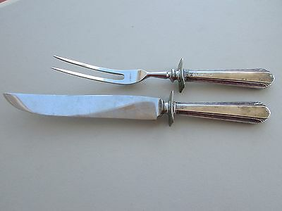 Vintage Sterling Handles Carving Knife and Fork Set