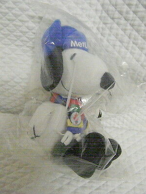 """Snoopy MetLife 6"""" Plush - Scarf, Hat & Boots - NEW Peanuts"""