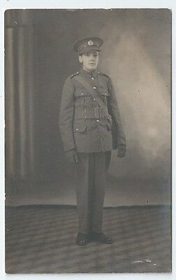~WW1 Royal Engineers Young Boy in Soldier Uniform Unused RP Postcard 1920s?