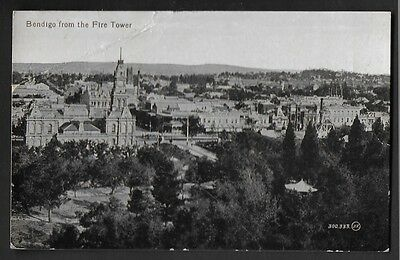 Vintage Postcard - Bendigo From the Fire Tower VIC - Free Postage