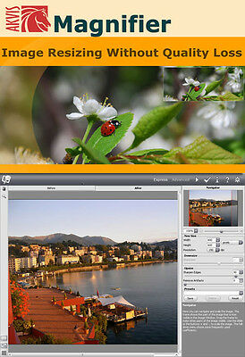 New AKVIS Magnifier Change Image Size without Quality Loss Win 10.7.8. xp.vista
