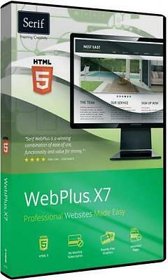Webplus x7 DVD pro website builder with 186 page Guide Windows 10 8 7 xp vista