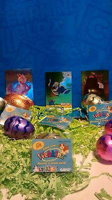 Webkinz Code Lot of 4 and 3 foil stickers MUST SEE!!!