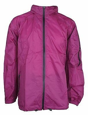 Waterproof spray Jacket  Windcheater   STOLITE  EXPLORER   Adult 2XL- RUBY
