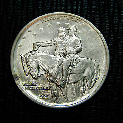 1925 Stone Mountain Commemmorative Silver  Half Dollar Coin   Nice Bu Coin