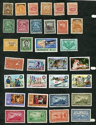 Stamp Lot Of Nicaragua, Mnh And Mh (2 Scans)