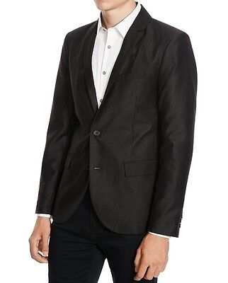 Kenneth Cole Reaction NEW Black Mens Size Large L Two Button Blazer $139 067